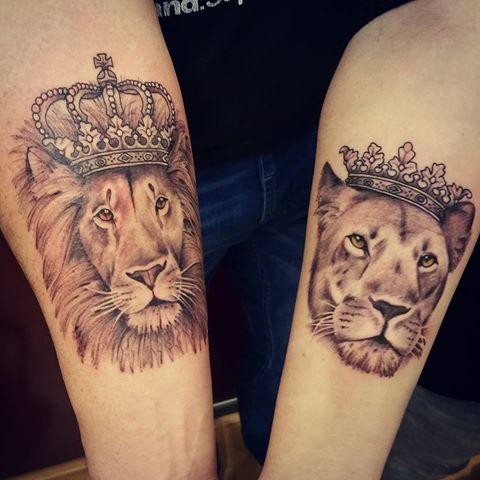 Bildergebnis für Löwepaartätowierungen Tattoo damen