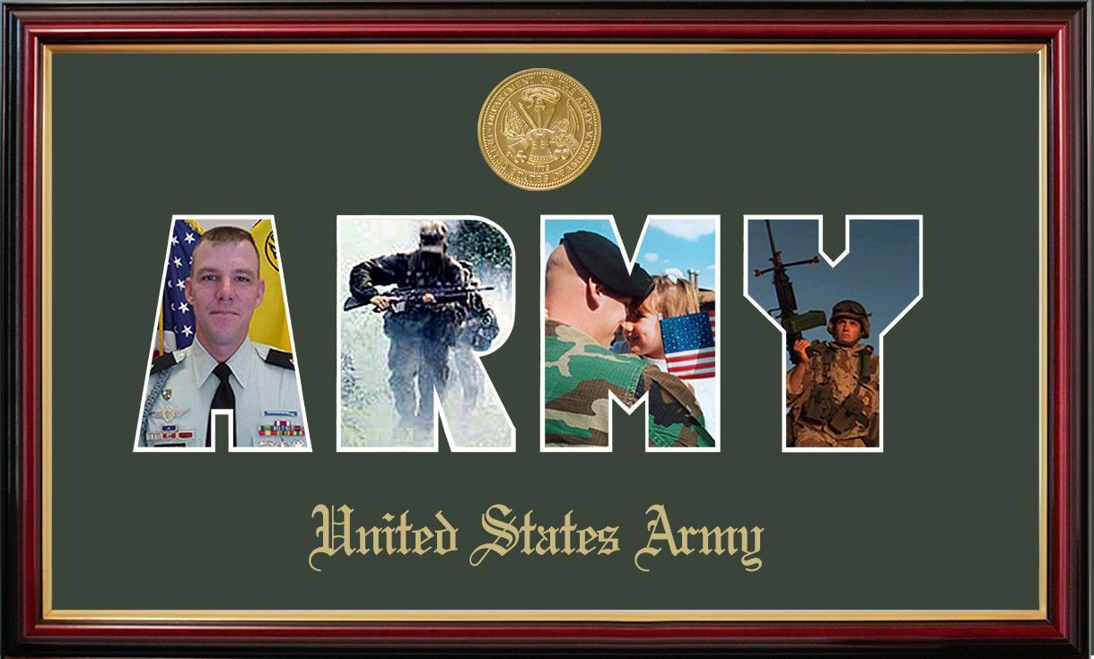 Army Collage Photo Petite Picture Frame