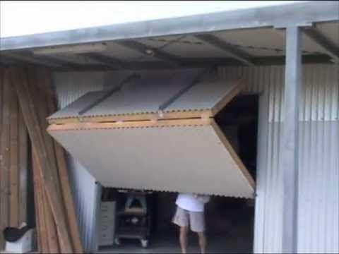 Hangar Style Bifold Door On My Shed 2 Youtube Garazhnye Dveri