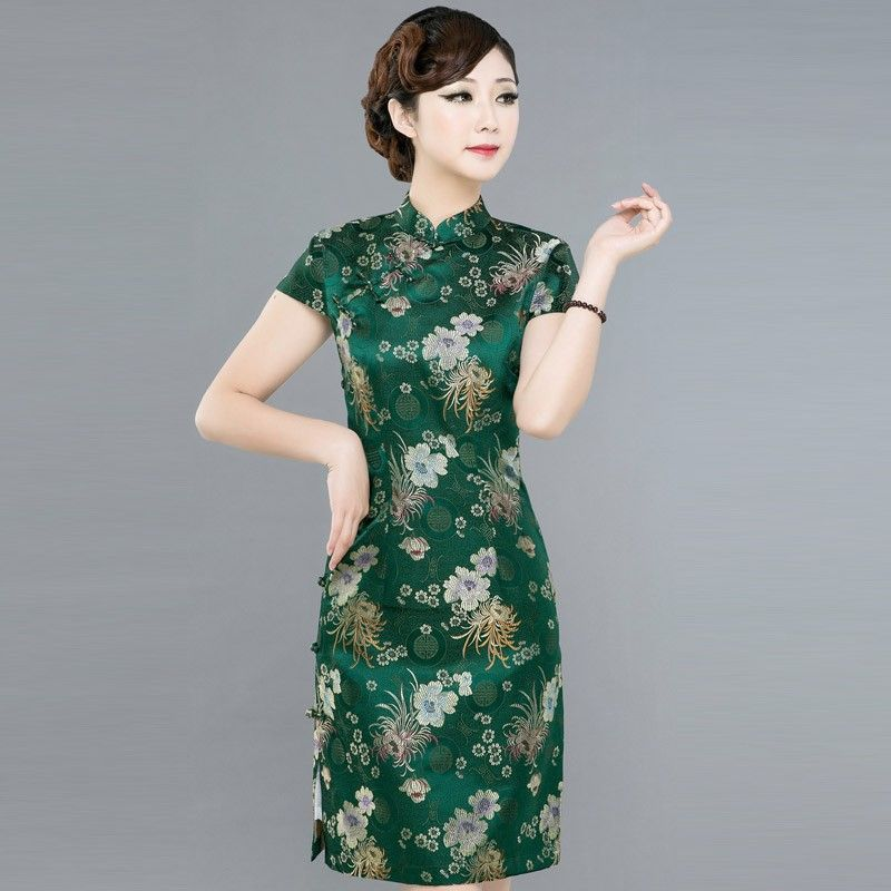 Image result for green floral brocade gown