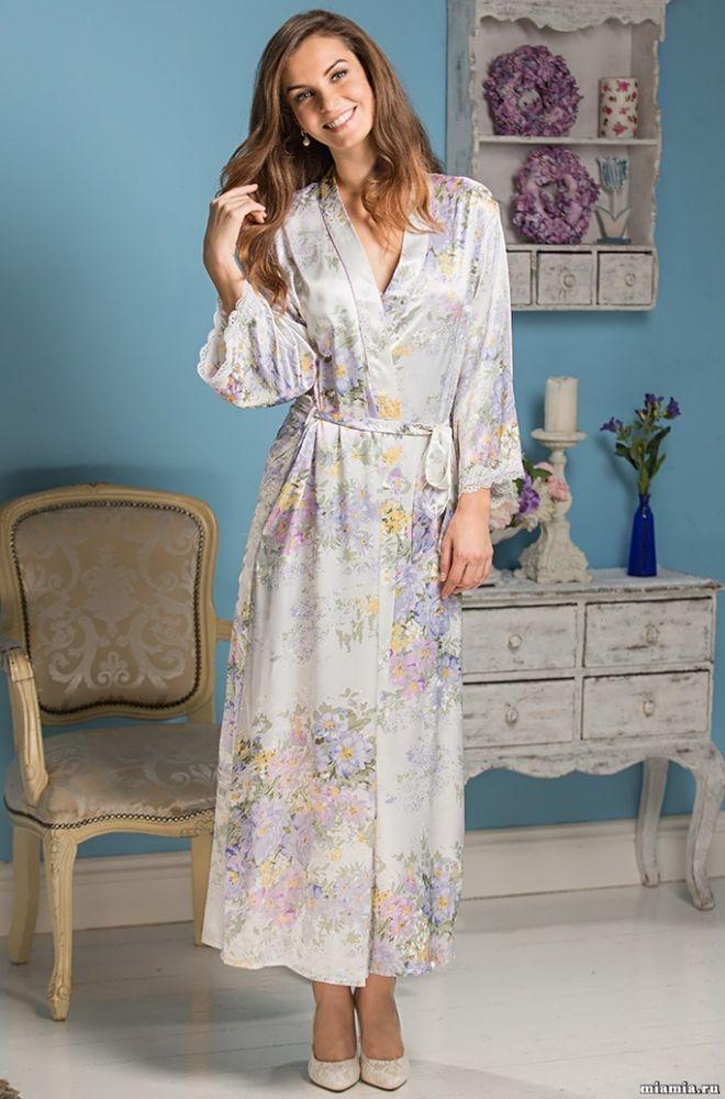 9726b53289 Satin Sexy Damen Kimono Morgenmantel Nachtwäsche