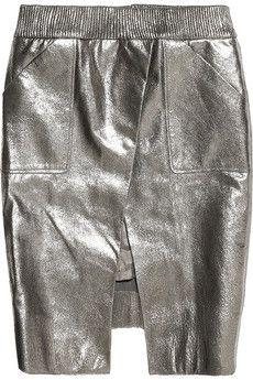 silver. metallic. leather. skirt. AH! --Svpply