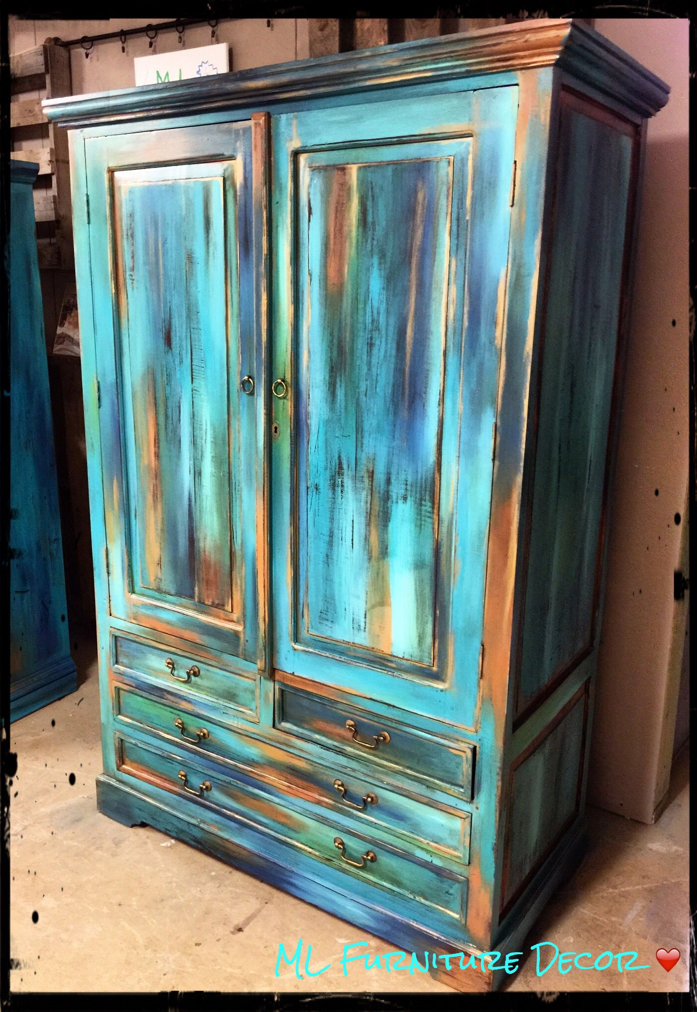 From Our Bermuda Collection, this blended technique makes this Armoire  unique! By ML Furniture - From Our Bermuda Collection, This Blended Technique Makes This