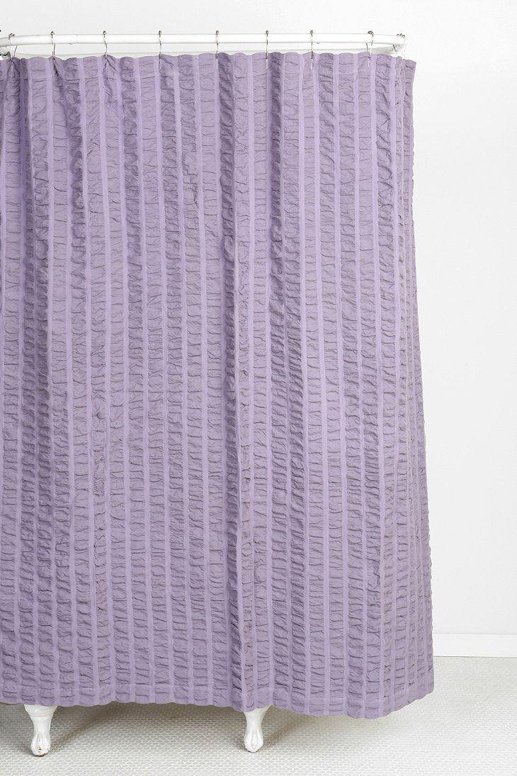 Seersucker Shower Curtain Lavender Shower Curtain Urban