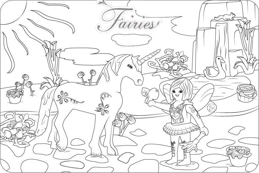 Ausmalbilder Einhorn Mit Fee Ausmalbilder Pferde Coloring Pages