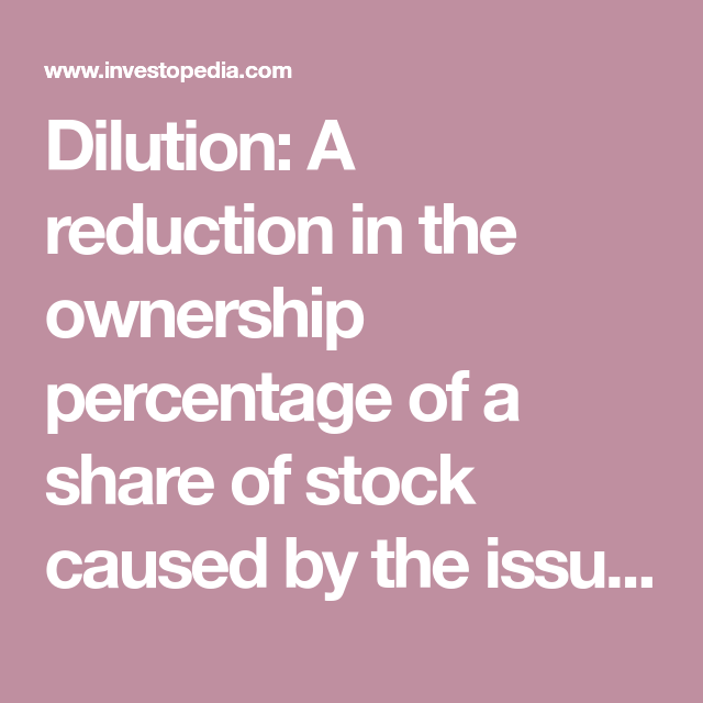 Dilution Definition Stock options