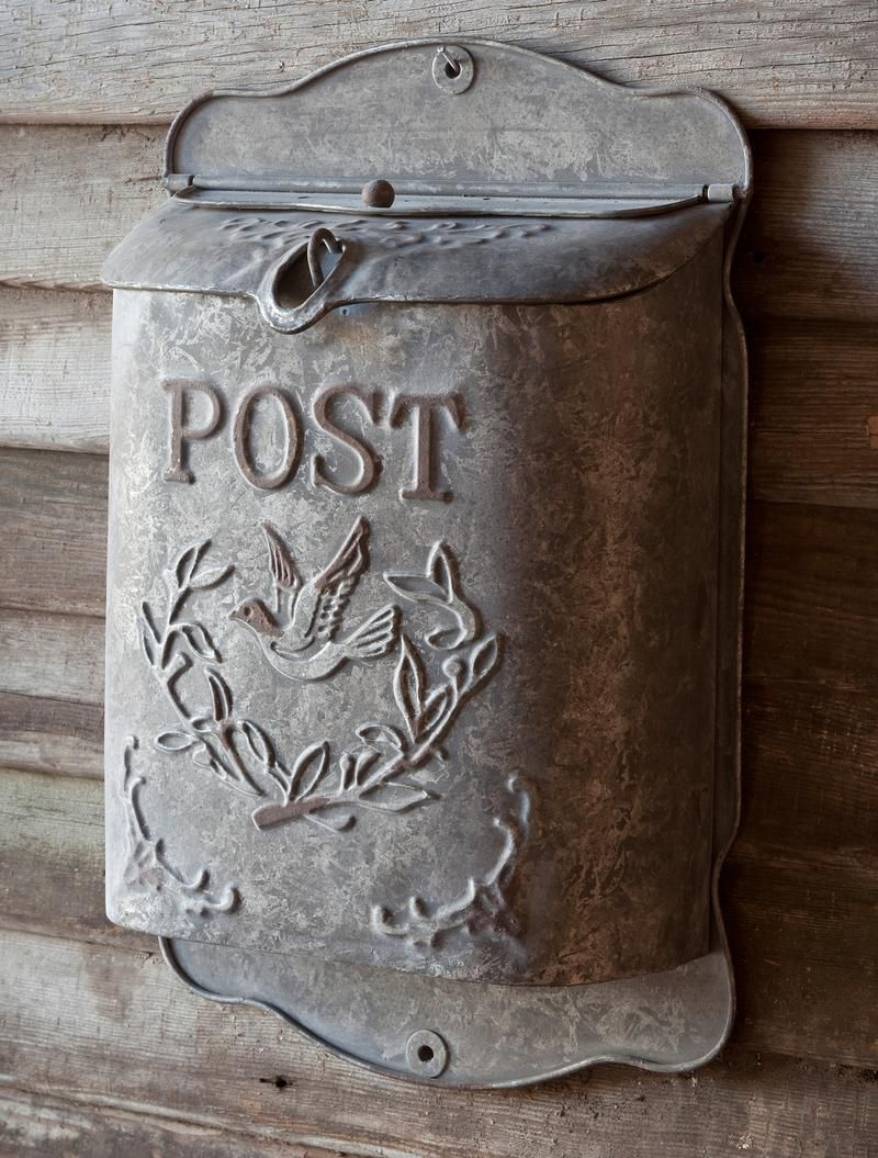 Embossed Bird Metal Vintage Antique Rustic US POST Mailbox Mail Box 15 COLORS!