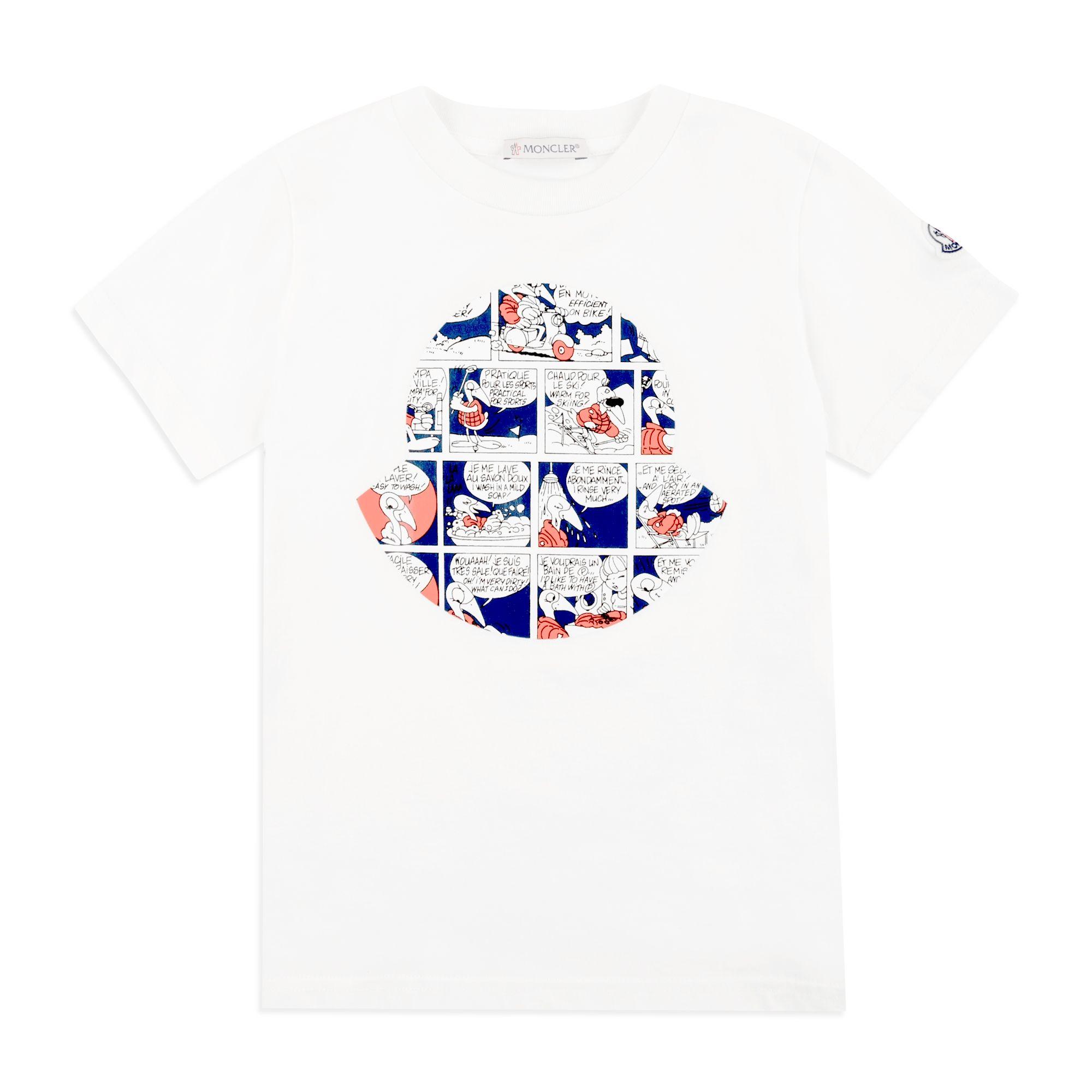 ca3a302a4 Boys Glossy Cartoon Logo T-Shirt - White