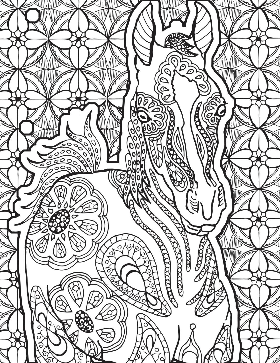 Three creative coloring horse pages- 3 pages! Coloring ...
