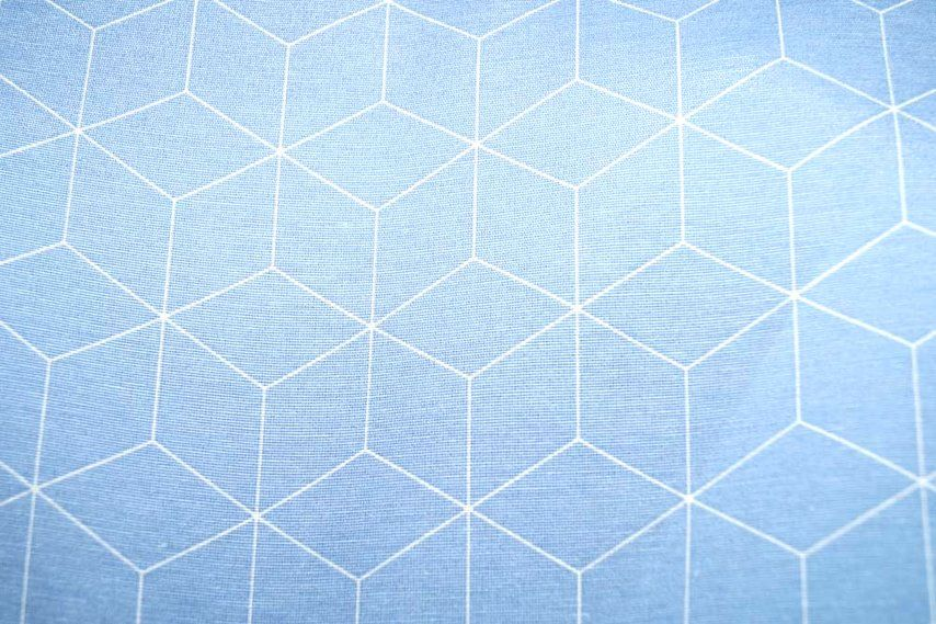 NB 1224-003 Interieurstof abstract blauw