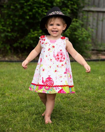 Tea Party Dress Baby Girl Clothing Todller Clothing Patch