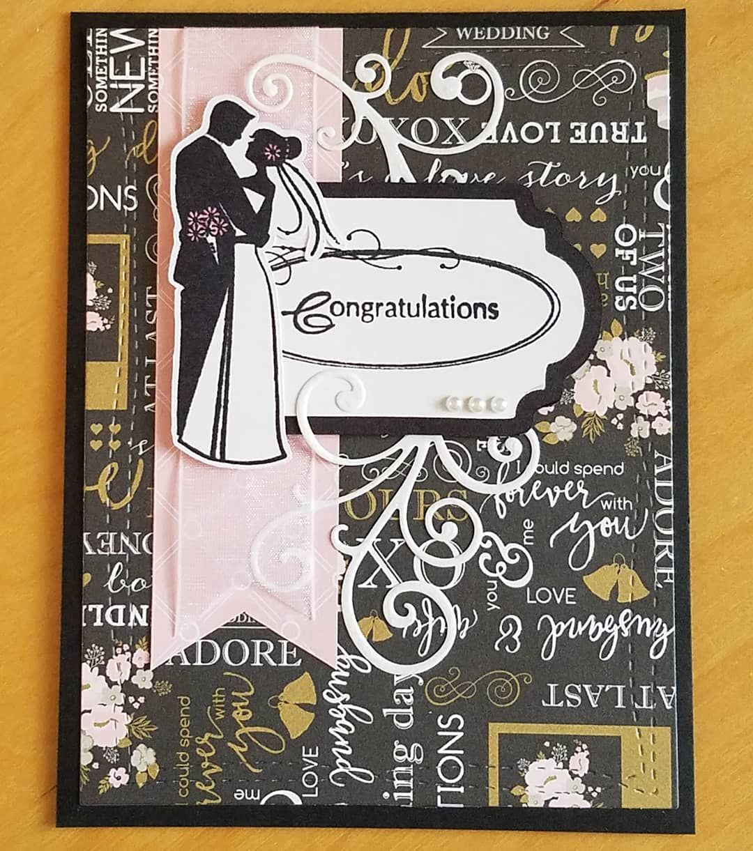"""""""a wedding card using the beautiful paper from echopark"""