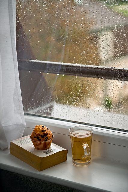 Rain outside cosy inside...