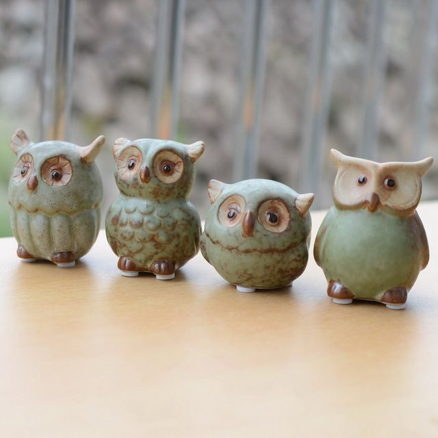 Online Shop Ceramic Owl Home Decor Arts And Crafts Creative Gifts Mini Lovely Decoration Night Owl Ornaments Frie In 2020 With Images Ceramic Owl Owl Home Decor Owl Ornament