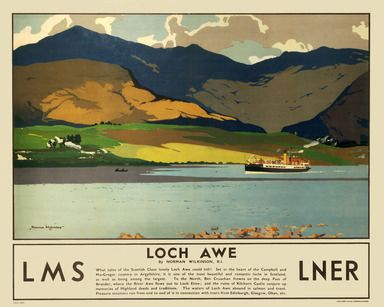 Vintage LMS Scafell Wastwater Lake District Railway Poster A4//A3//A2//A1 Print