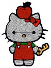 Apple Kitty Embroidery Design - Machine Embroidery Designs