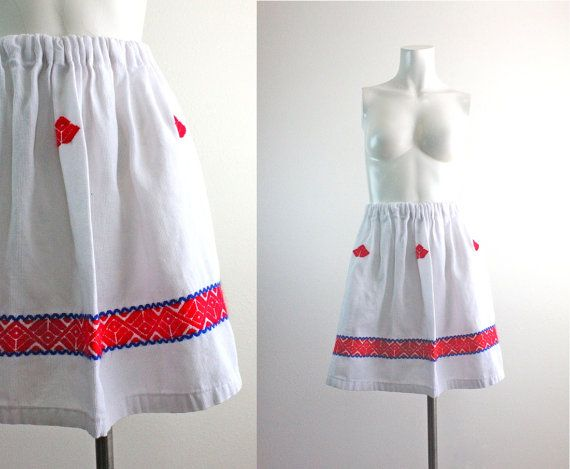 c1970's Aztec Mini Skirt S/M by bumbleebuck on Etsy, $26.00