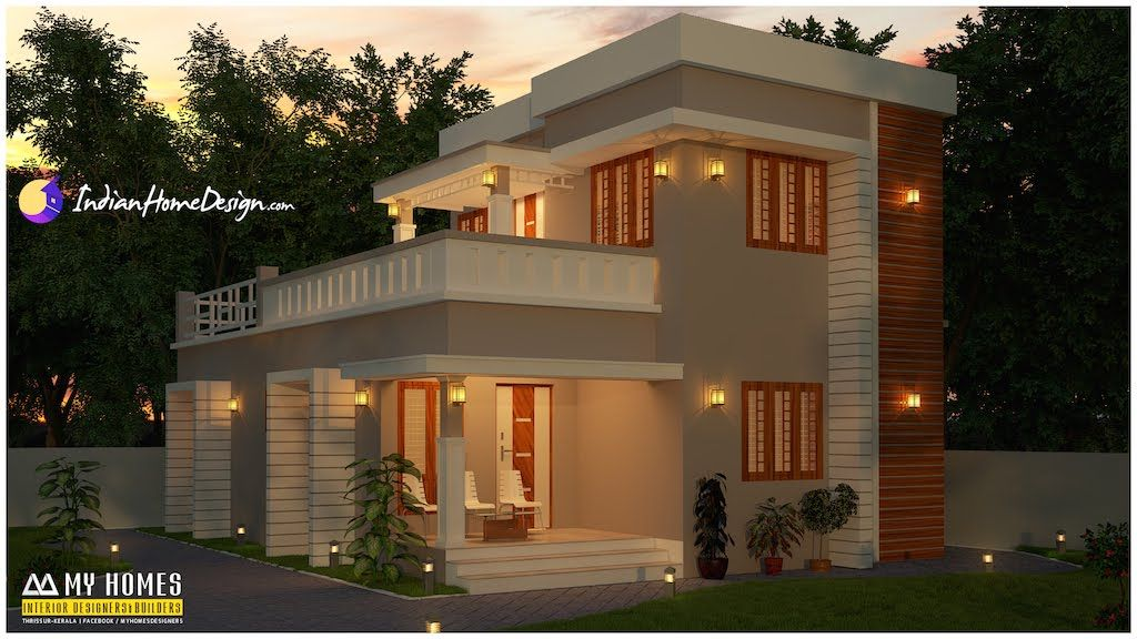 3bhk Contemporary Home Part - 35: 1400 Sqft Attractive 3 Bhk Budget Home Design