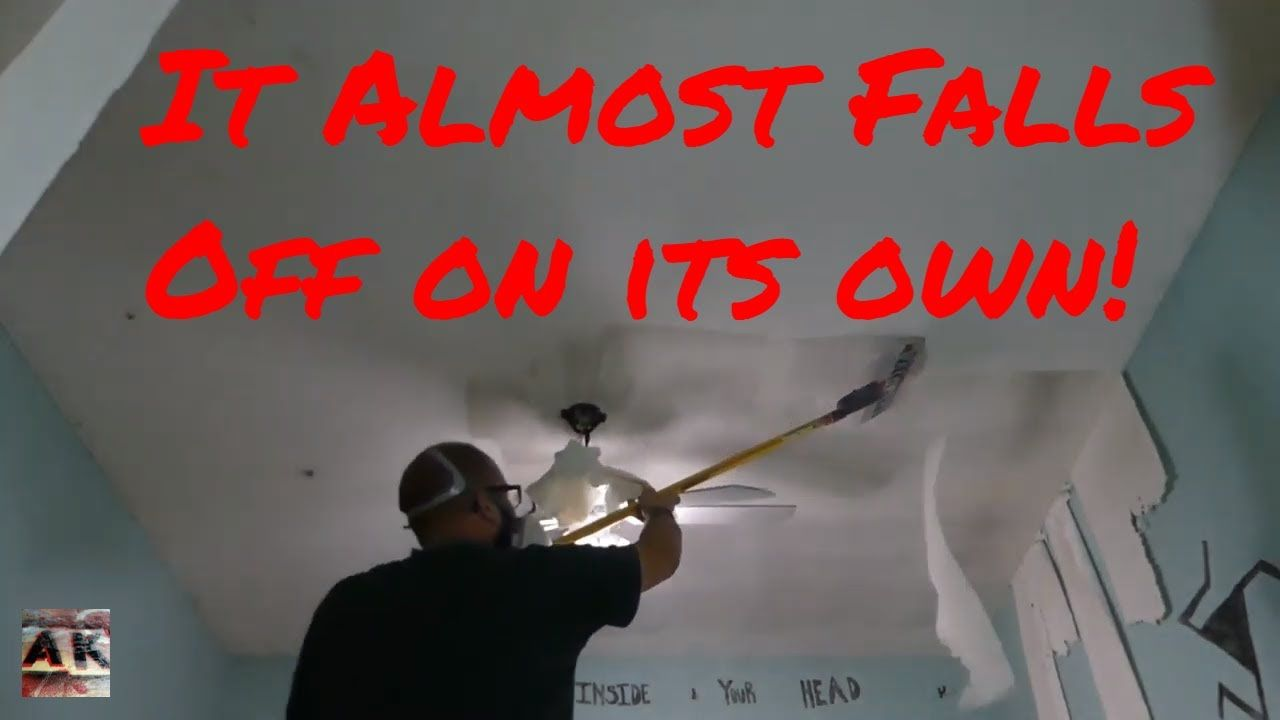 How to remove popcorn ceiling texture in minutes DIY in
