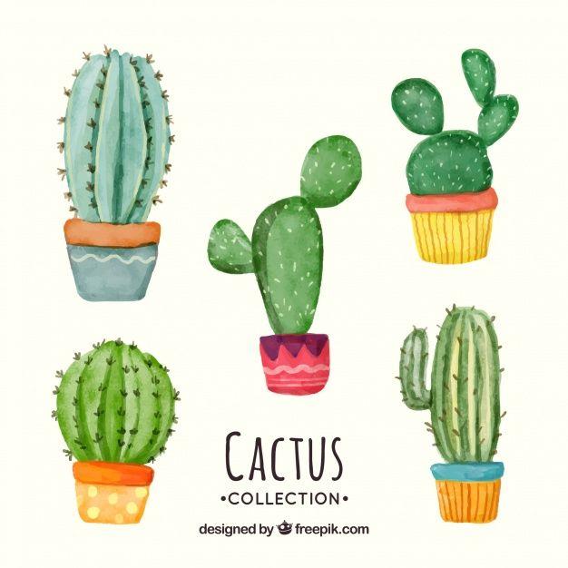 Download Fun Set Of Watercolor Cactus For Free Watercolor Cactus