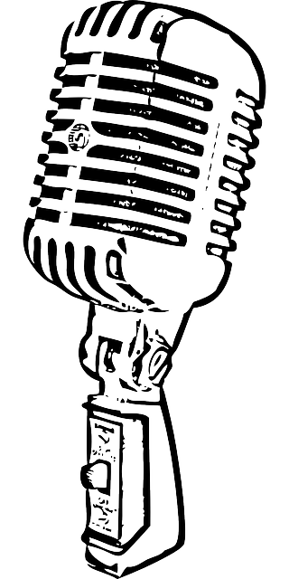 Old Microphone Record Sound Antique Mic Png 320 640 Pixels Desenho De Microfone Microfone Antigo Microfone