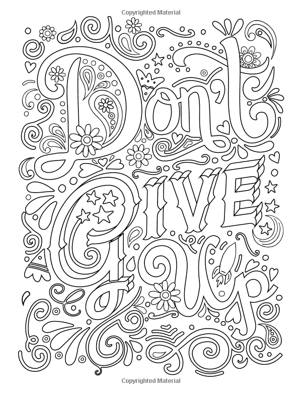 Adult Coloring Books Good vibes: Don't give up : Motivate ...