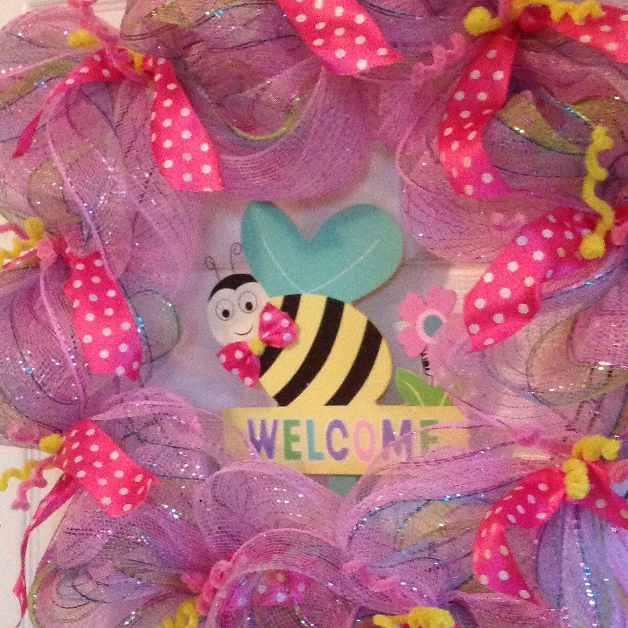 A personal favorite from my Etsy shop https://www.etsy.com/listing/226016480/handmade-springtime-welcome-wreath-24