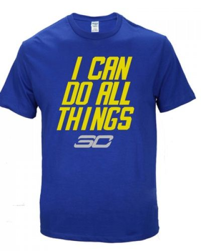 NBA basketball Stephen Curry I can do all things t shirt golden state  warriors tee c09f2d421