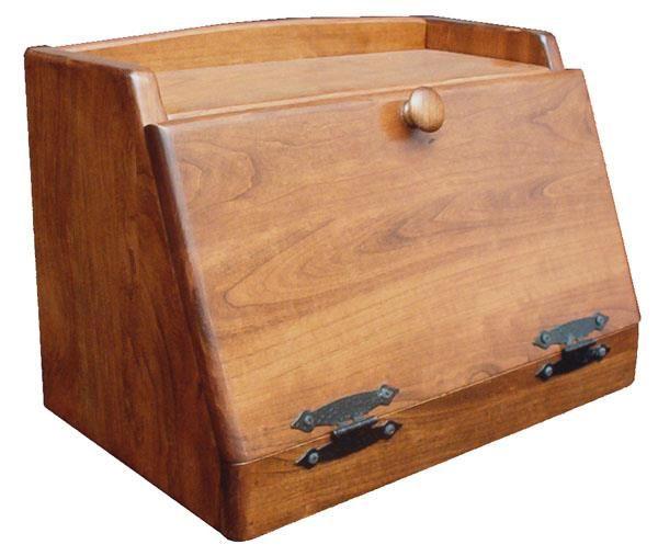 Amish Made Plain Bread Box In 2020 Bread Boxes Wooden Bread Box