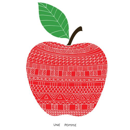 apple with pattern