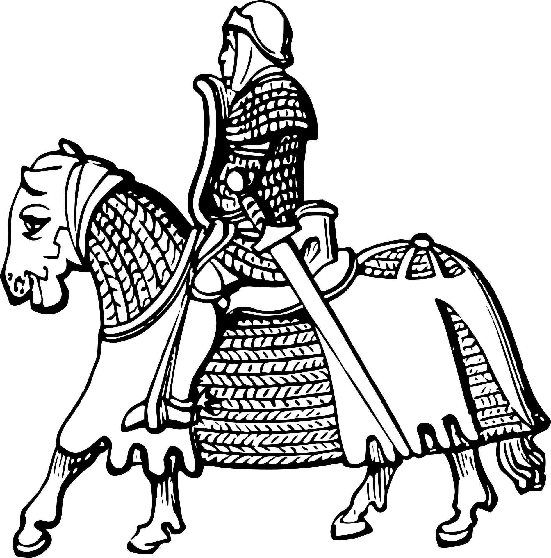 Knight Coloring Page - Love of Coloring | Knight Coloring Pages ...