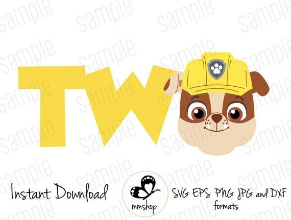 Two  Rubble  Paw Patrol  Instant Download  SVG FILES - Rubble paw patrol, Paw patrol, Paw patrol birthday, Instant download, Svg, Paw - or print items for personal use, gifts, and finished products you will sell   You MAY NOT transfer, share, give, or sell the actual digital file in any digital format  Due to instant download feature there are no refunds  If you find an issue with the design please message us and We will be more than happy to help!  Please let us know if you have any questions!  Thank you for visiting the store!!
