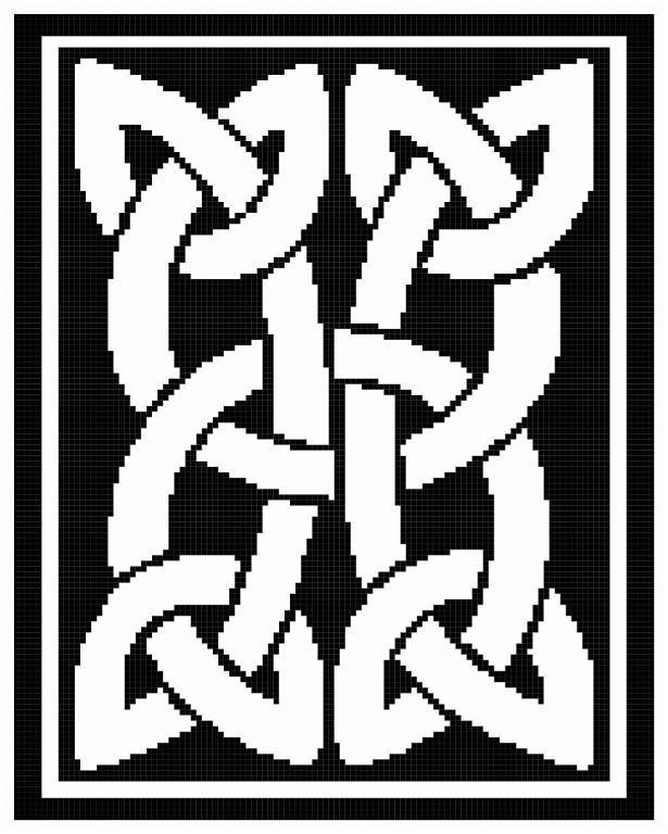 Celtic Bar Afghan Pattern-Crochet,Knit   Disenos y Celta