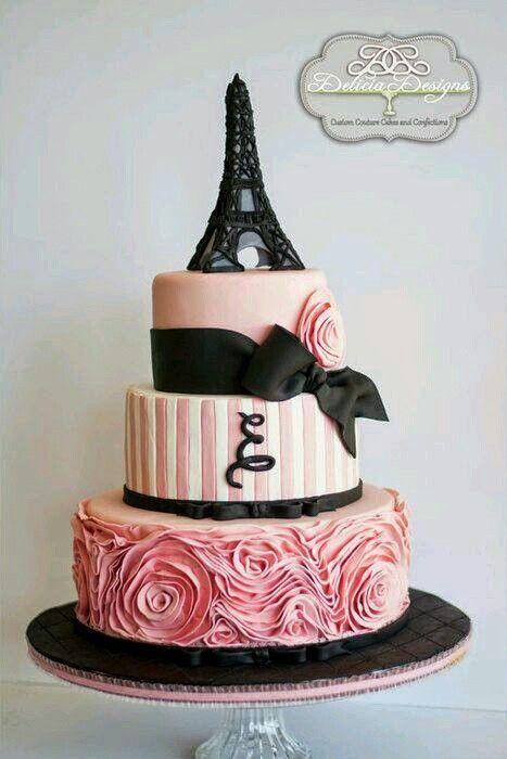 Paris Wedding Cakes Paris Themed Birthday Cake Featuring The