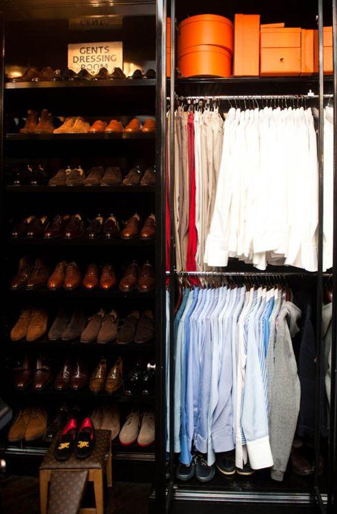 A gentleman's changing room. Tell us the staples of your autumn wardrobe.  #gentleman #wardrobe