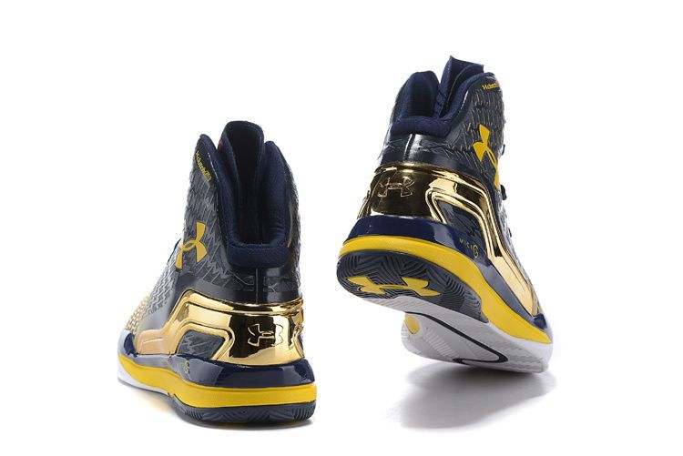 3283deb1acca Men s Under Armour UA Stephen Curry Two Mid Basketball Shoes Navy Yellow