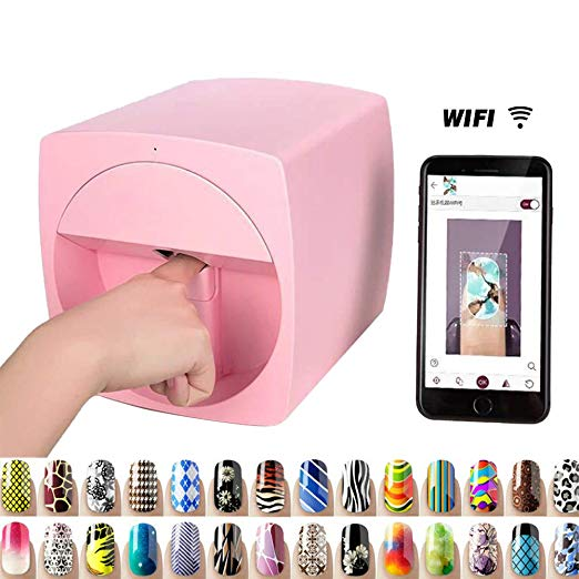 Multifunction Portable Nail Art Printers Machine Transfer Picture Nails Machine Wifi Wireless Easy Al Nail Art Printer Nail Printer Mobile Nails