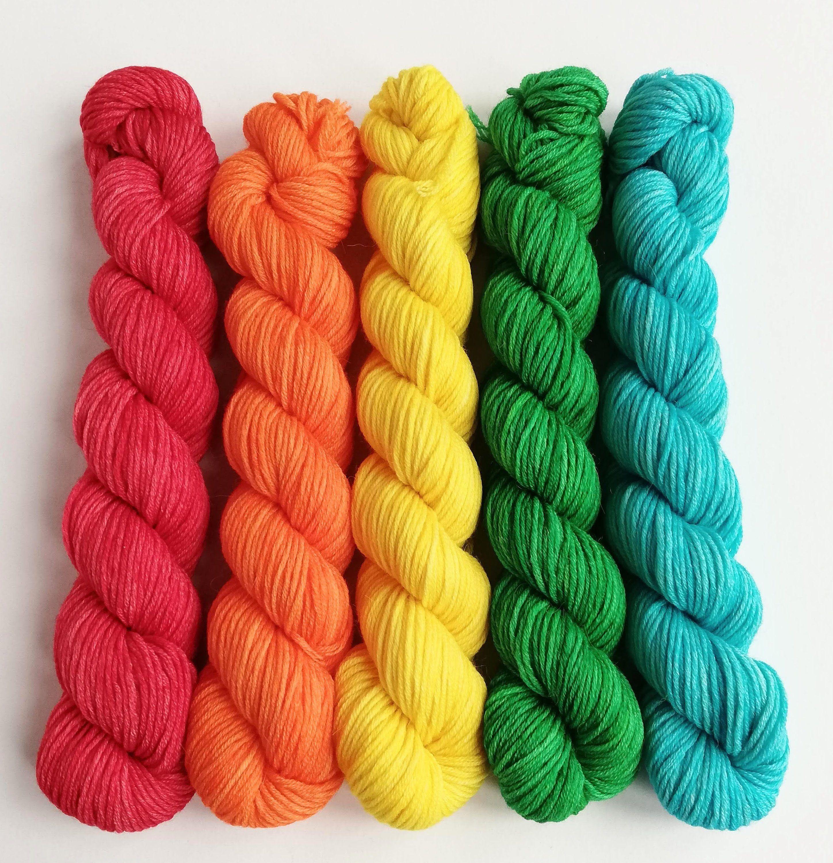 alpaca merino nylon Fingering Weight Yarn Rainbow
