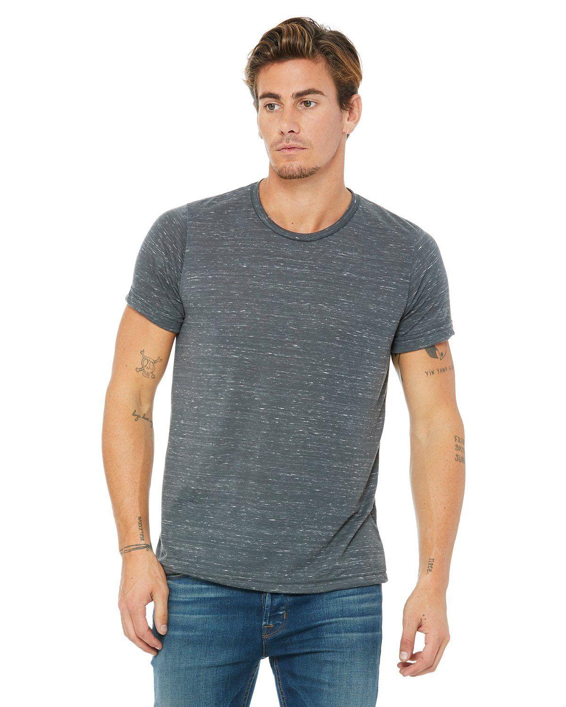 901a6e8ce Bella + Canvas Unisex Poly-Cotton Short Sleeve T-Shirt 3650 Charcoal Marble