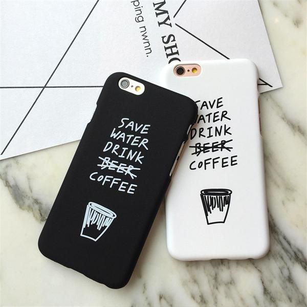 save water drink coffee funny iphone cases shopboldlyher. Black Bedroom Furniture Sets. Home Design Ideas
