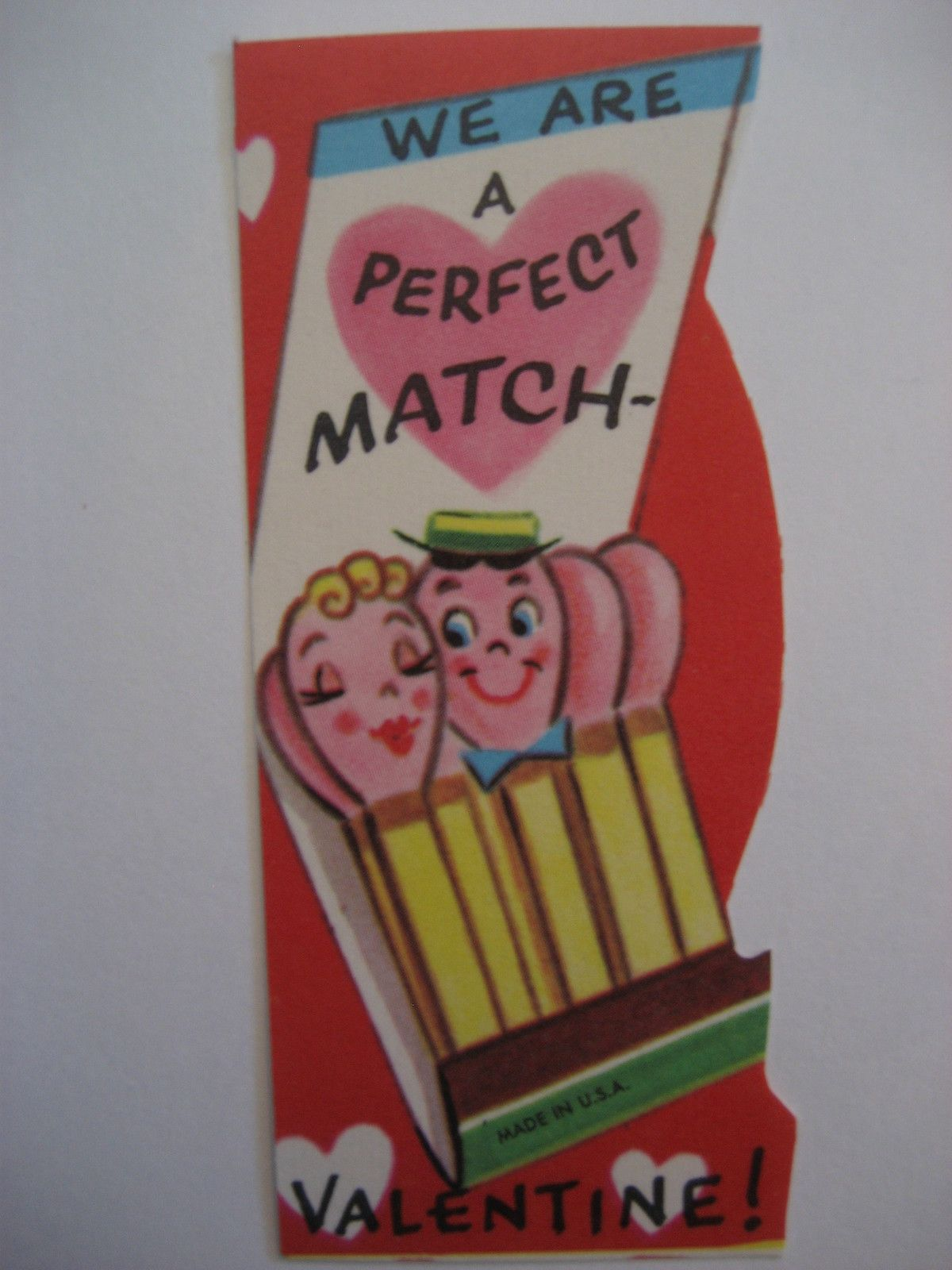 Vintage Valentine Card Anthropomorphic Book of Matches A Perfect Match Unused   eBay