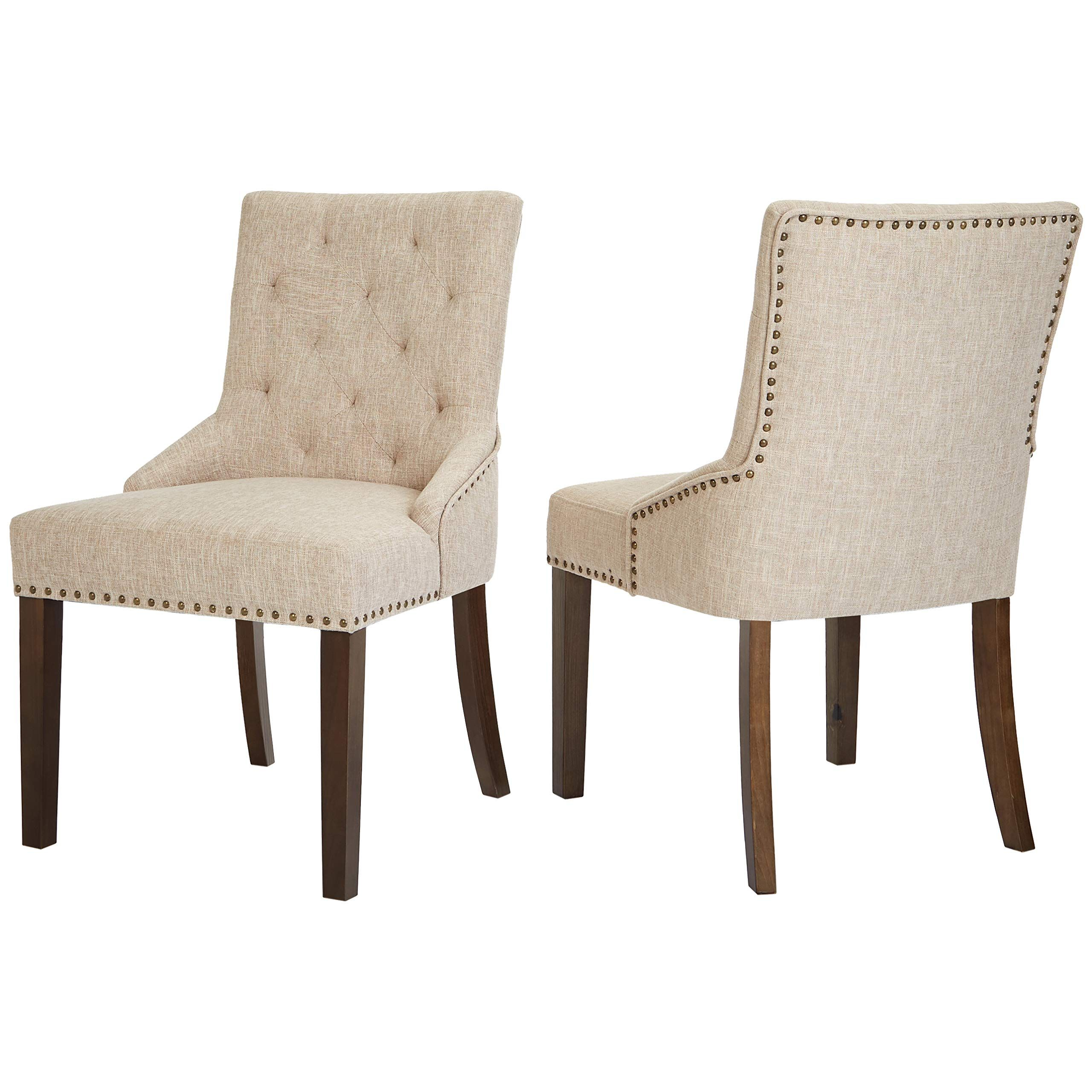 Red Hook Martil Upholstered Dining Chair With Nailhead Trim Biscuit