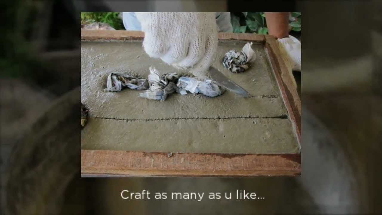 How to make concrete stepping stones looks like wood - How To Make Concrete Stepping Stones Looks Like Wood Concret