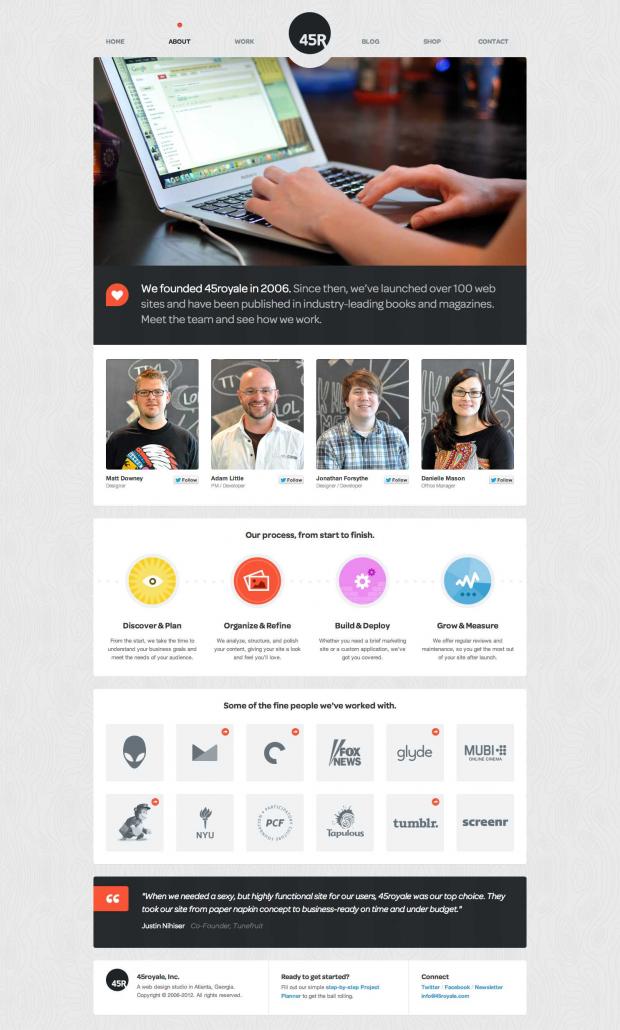 45royale A Web Design Studio In Atlanta Georgia About Web Design Company Web Design Beautiful Web Design