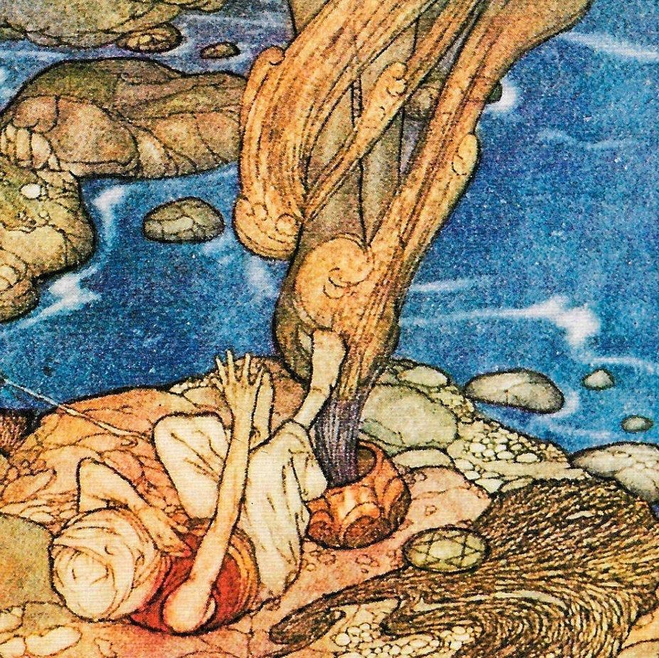 """Photo of """"Arabian Nights Edmund Dulac [1907] """"And the"""
