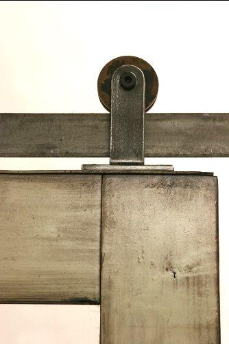 Top Mounted Barn Door Hardware Has A Streamline Look Http Rusticahardware