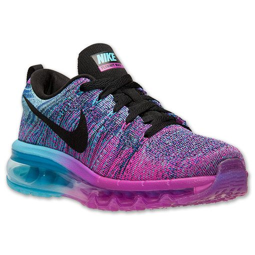 pretty nice 44f4f e748c Womens Nike Flyknit Air Max Running Shoes  Finish Line  Fuchsia  FlashBlackClearwater  LOVE THESE, GONNA INVEST FOR 2015 WORKOUTS