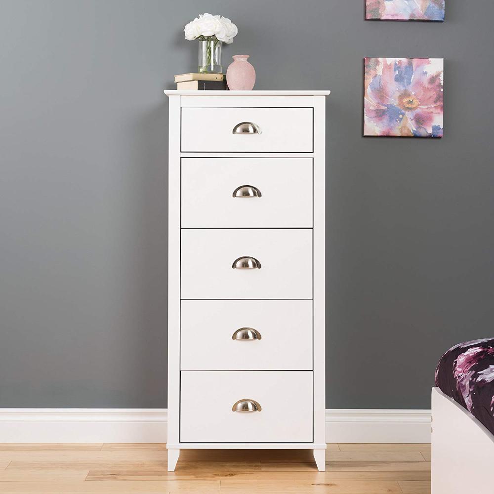 Amazonsmile Prepac Yaletown 5 Drawer Tall Chest White Home Kitchen Tall White Dresser Shabby Chic Dresser White Dresser [ 1000 x 1000 Pixel ]