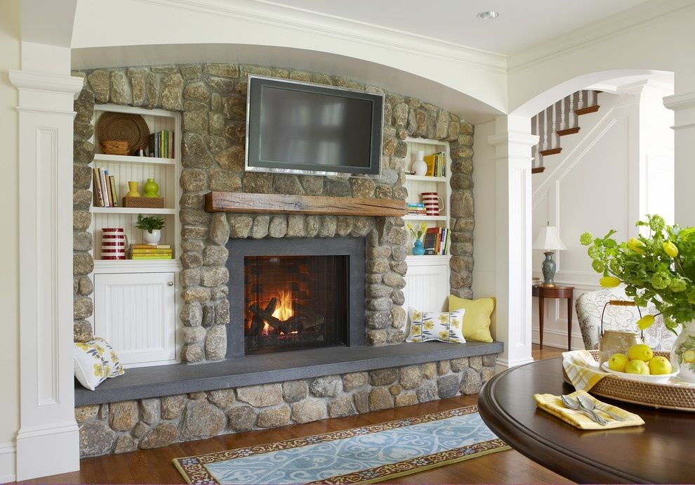 Raised Built In Fireplace With Hearth Seat Basement Pinterest