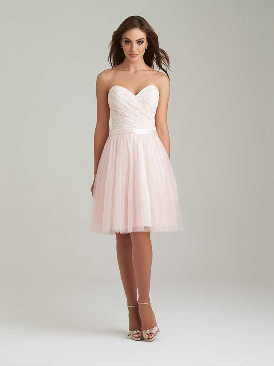 Aline sweetheart short lace tulle wedding party bridesmaid dresses